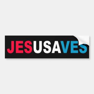 JESÚS AHORRA PEGATINA PARA AUTO