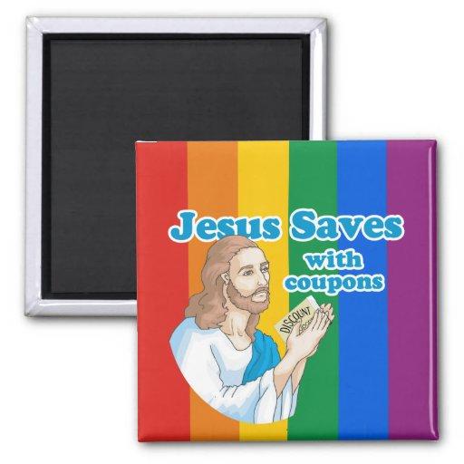 JESÚS AHORRA CON LAS CUPONES IMÁN DE NEVERA