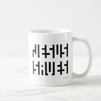 Jesús ahorra el logotipo taza de café