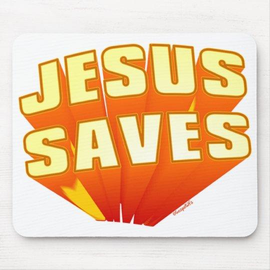Jesús ahorra el regalo cristiano alfombrilla de ratón