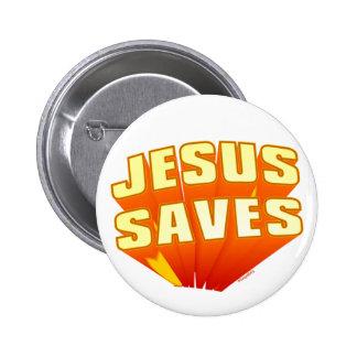 Jesús ahorra el regalo cristiano pin redondo de 2 pulgadas