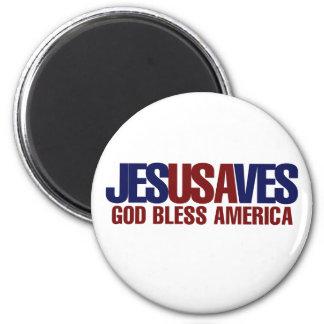 Jesús ahorra imán redondo 5 cm