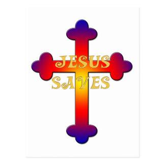 Jesús ahorra la cruz postal