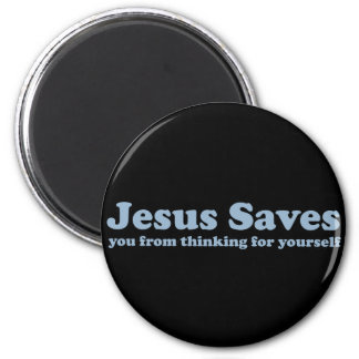 Jesús ahorra la sátira imán para frigorífico