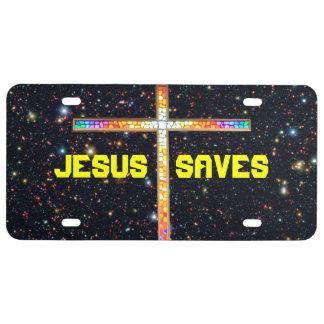 Jesús ahorra - las placas cruzadas placa de matrícula
