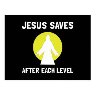 Jesús ahorra llano tarjeta postal