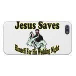 Jesús ahorra noche de boda iPhone 5 fundas