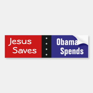 Jesús ahorra, Obama pasa Pegatina Para Auto