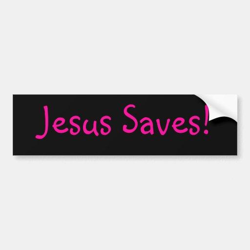 ¡Jesús ahorra! Pegatina Para Auto