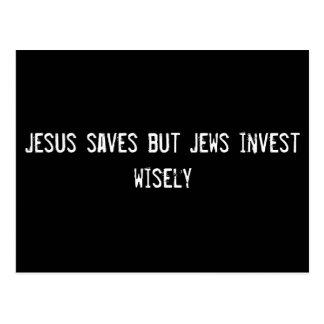 Jesús ahorra pero los judíos invierten sabiamente postal