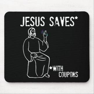 Jesús ahorra alfombrillas de ratón