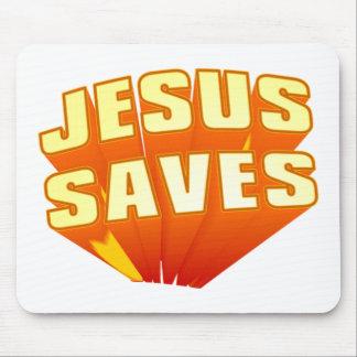 ¡Jesús ahorra! Tapete De Ratones