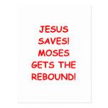 Jesús ahorra tarjeta postal