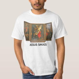Jesús ahorra, tryptich del altar de iglesia playera
