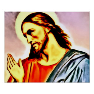 Jesus Airbrush Art Nouveau Print