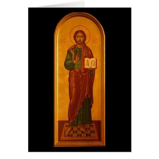 Jesus Alpha Omega Card