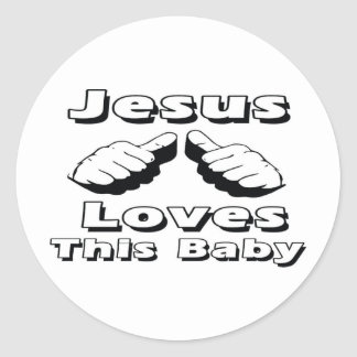 Jesús ama a este bebé pegatina redonda