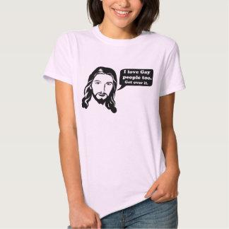 ¡Jesús ama a gente gay también! Remeras