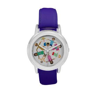 Jesús ama a los niños del mundo reloj