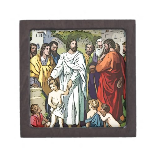 Jesús ama a los pequeños niños caja de regalo de calidad