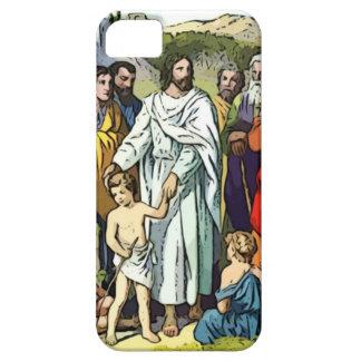 Jesús ama a los pequeños niños funda para iPhone 5 barely there
