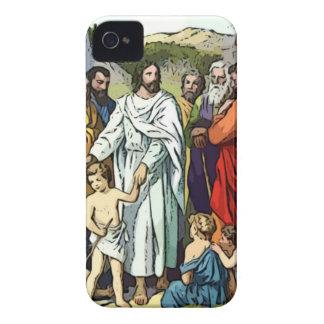 Jesús ama a los pequeños niños iPhone 4 carcasa