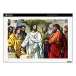Jesús ama a los pequeños niños calcomanías para portátiles