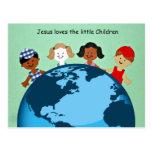 Jesús ama a los pequeños niños tarjetas postales