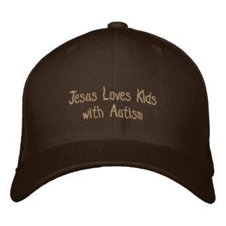 Jesús ama a niños con autismo gorras de béisbol bordadas