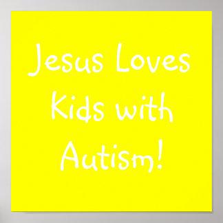¡Jesús ama a niños con autismo! Poster