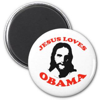 Jesús ama a Obama Imán Redondo 5 Cm