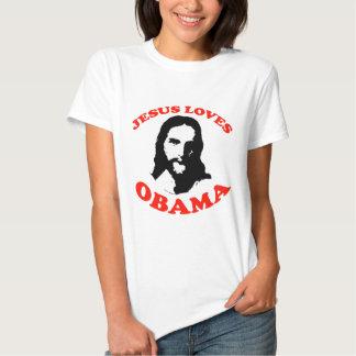 Jesús ama a Obama Playera