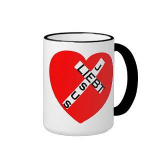 Jesús ama! Cruz Taza De Café
