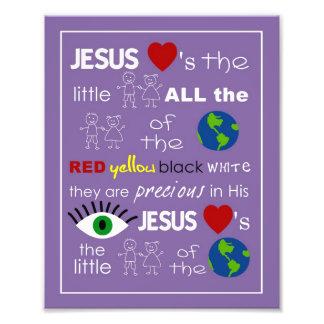 Jesús ama el arte del cuarto de niños de los peque cojinete