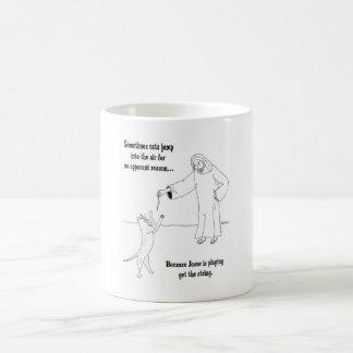 Jesús ama gatos taza