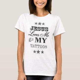 Jesús ama me y mis tatuajes playera