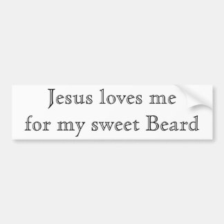 Jesús ama mi barba etiqueta de parachoque
