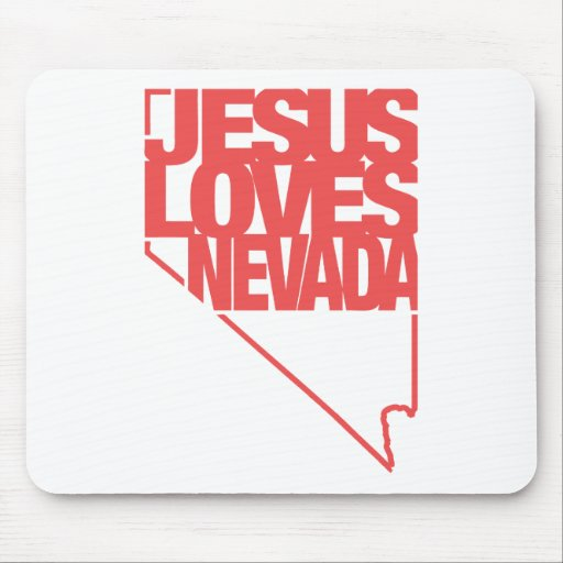 Jesús ama Nevada Tapetes De Ratón