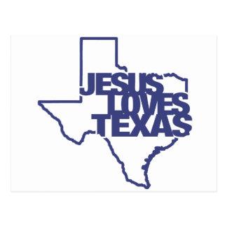 Jesús ama Tejas Tarjetas Postales