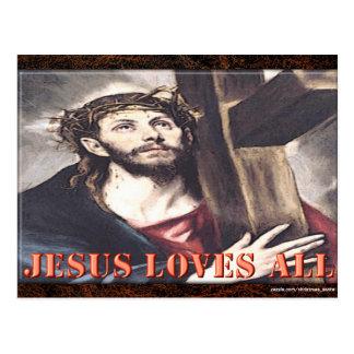 JESÚS AMA TODOS POSTALES