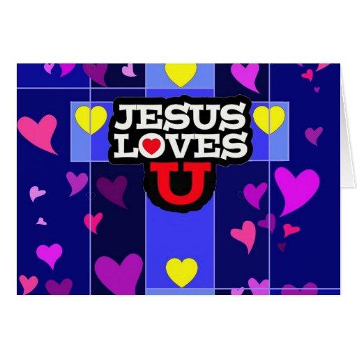 Jesús ama U Tarjeta