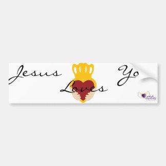 Jesús ama Usted-Personalizar Pegatina Para Auto