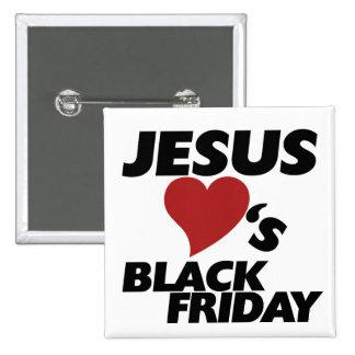 Jesús ama viernes negro pins