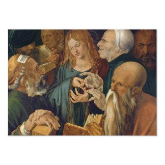 Jesus among the Doctors by Albrecht Durer Card