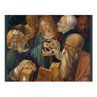 Jesus among the Doctors by Albrecht Durer Postcard