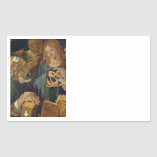 Jesus Among the Doctors Rectangular Sticker