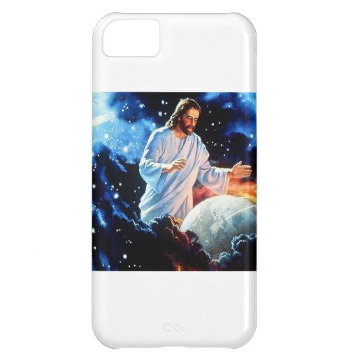 Jesús-Amor--Mundo Funda Para iPhone 5C