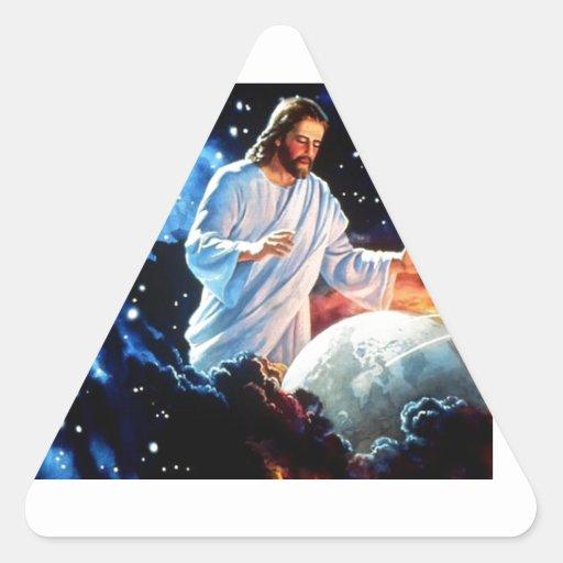 Jesús-Amor--Mundo Pegatina Triangular