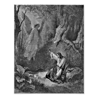 Jesus and Angel Bible Illustration Poster