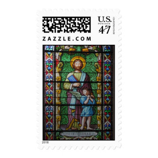 jesus and angel postage